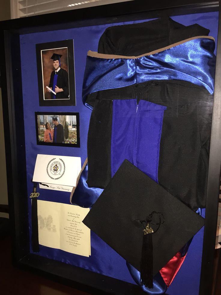 Graduation Shadow Box - proud Mom box.... Brian's 2014 Georgia State University