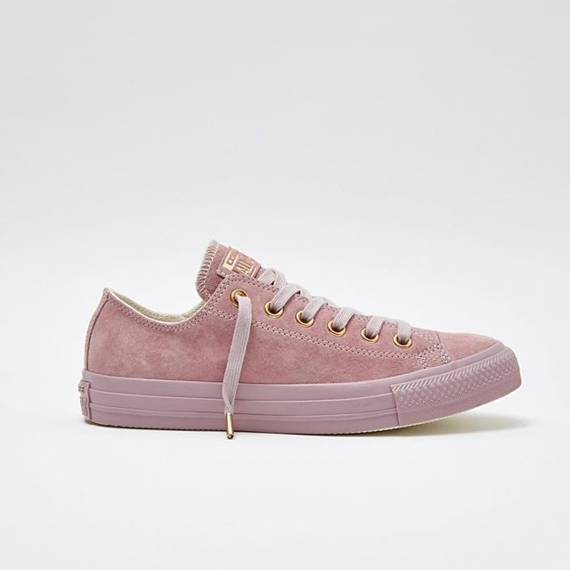 Exclusive All Star Lo's in lilac suede with rose gold details - now online  & in store. Search for 'Lilac Converse' in the search bar