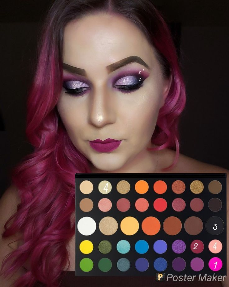 Look by number using morphes James Charles palette