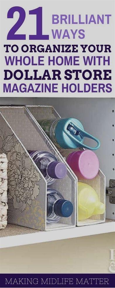 Dollar Store Magazine Holder Organization Tips