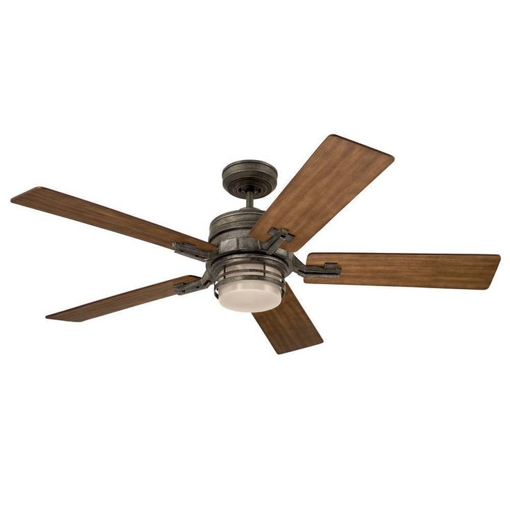 The Amhurst, 54 inch blade span, is transitional ceiling fan with a modern industrial influence. It comes with an integrated light fixture, a wall control, and 5 reversible blades.