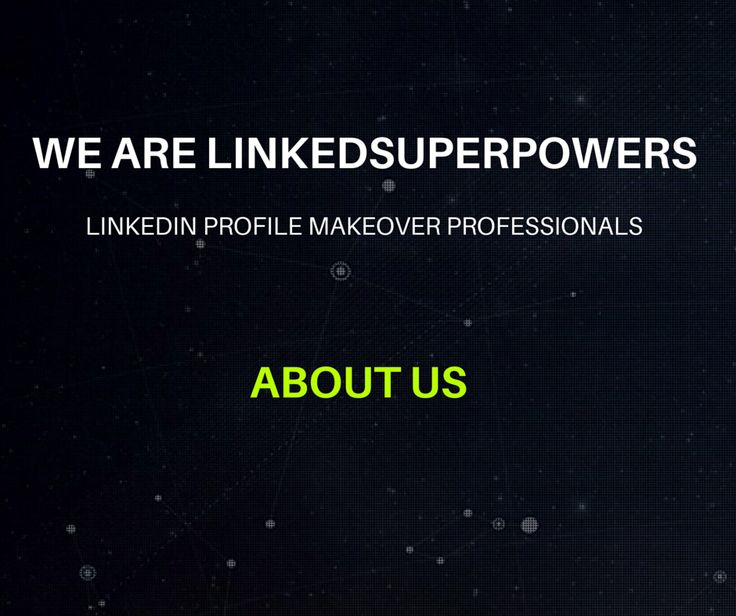 LinkedSuperPowers is a company that offers Dynamic LinkedIn Profile Makeovers as well as LinkedIn Company Page Makeovers.  We focus on providing services of the highest standard in making individuals, as well as companies,   more: ♦ Reachable by their target prospects. ♦ Credible. ♦ Trustworthy.  ♦ Likeable. ♦ & Professional on the LinkedIn platform.  We create Unique LinkedIn Profiles that assist our customers to achieve their professional goals.   www.LinkedSuperPowers.com
