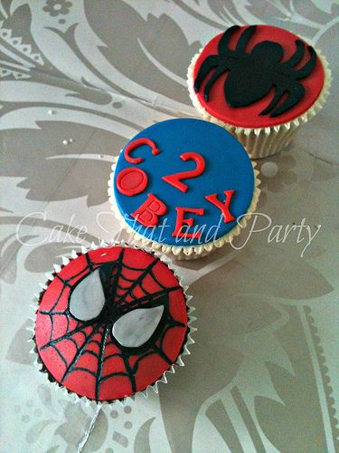 spiderman cupcakes: Birthday Plans, Spiderman Birthday, 4Th Birthday, Birthday Theme, Birthday Boys, Birthday Parties, Kevin Birthday, Photo, Birthday Cakes