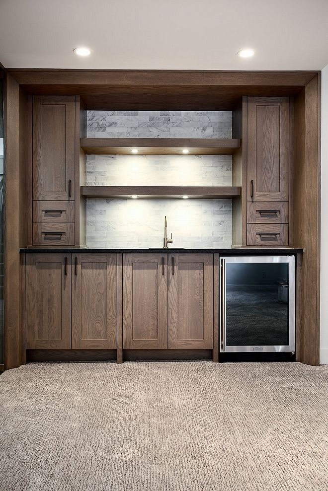 White Oak Wet Bar Basement With White Oak Wet Bar White Marble