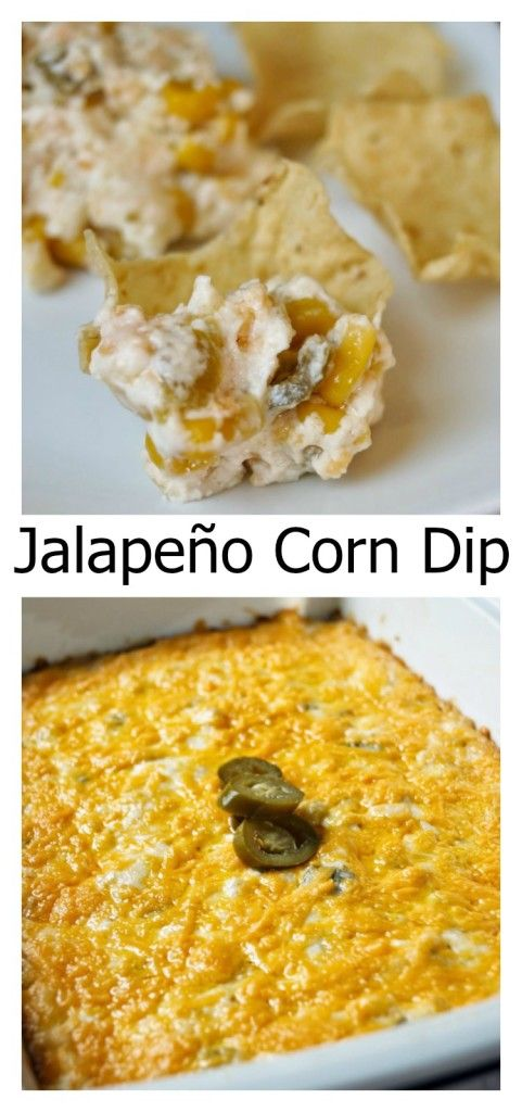 Jalapeno Corn DIp, Easy and delicious! Can be made in the crockpot as well!