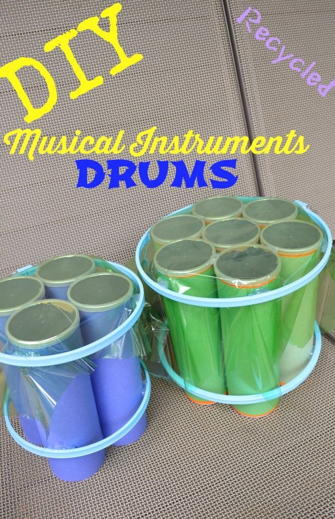 DIY Musical Instruments Drum Set - recycled empty Pringles cans = 1 COOL drum set for kids!