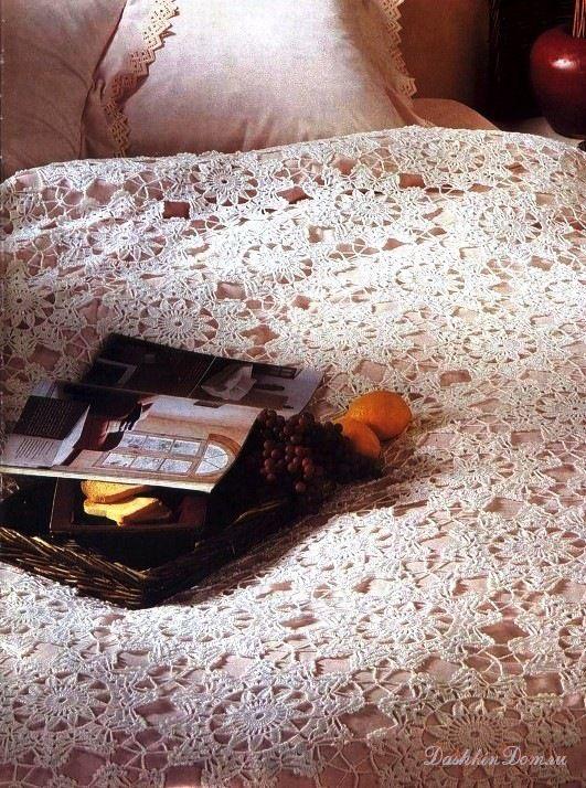 Gallery.ru / Фото #1 - Покрывала х/б и шелковые, связанные крючком - Alleta