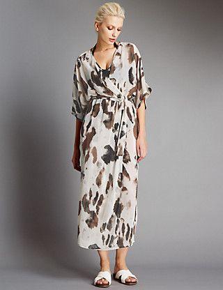 Animal Print Resort Dress | M&S