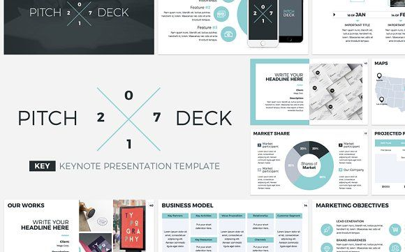 Pitch Deck 2017 Keynote Template by CreativeSlides on @creativemarket
