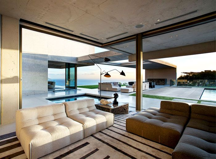Interior Exterior Overflow Of House OVD 919 In Bantry Bay Cape Town South Africa By SAOTA