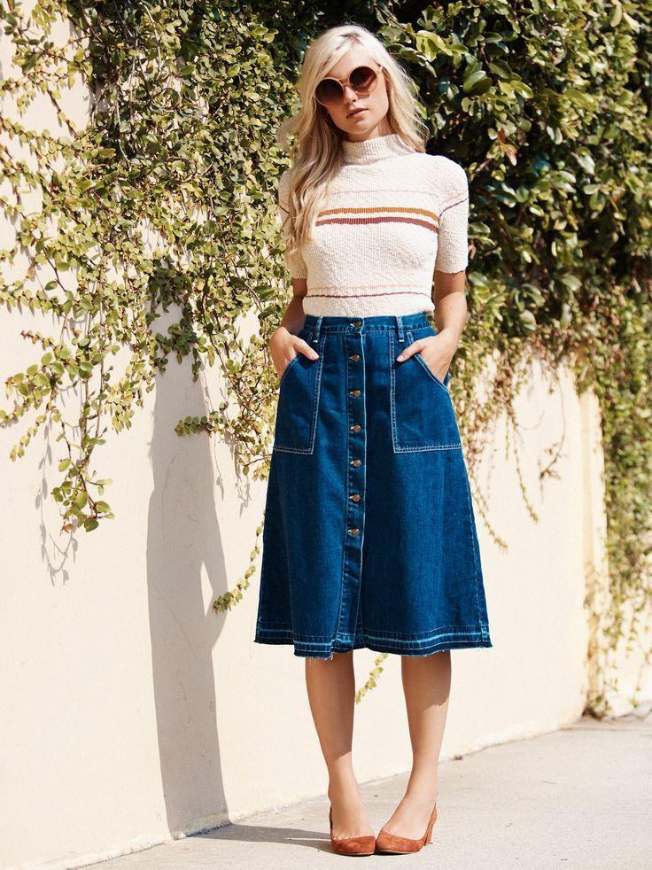 Best 20  Jean skirt style ideas on Pinterest | Short jean skirt ...