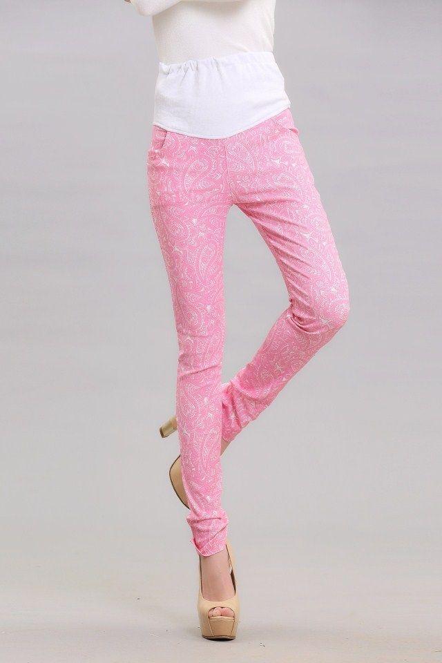 Материнство Брюки Весна Цветочные Тонкий корейской версии ухода за беременными женщинами живот брюки ноги карандаш брюки случайных брюки лег ...