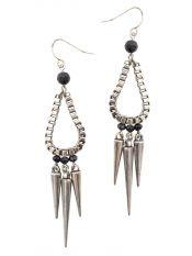 Metallic trendy earrings
