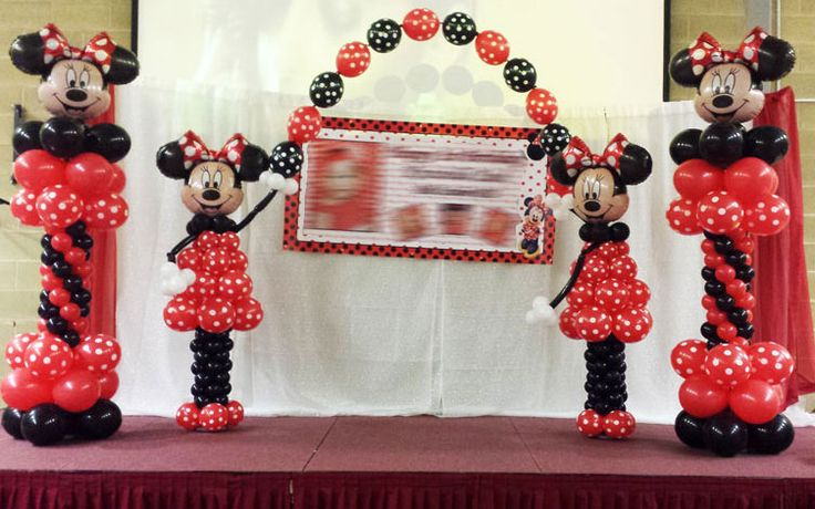 1000 ideas about minnie mouse balloons on pinterest for Balloon decoration minnie mouse