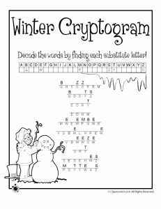 Several winter word puzzles for kids