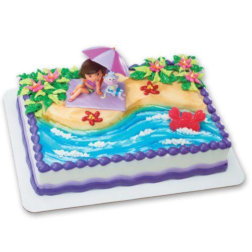 Dora The Explorer Cake Decorating Kit : DecoPac Dora Explorer Beach Fun Deco Set DecoPac,http://www.amazon.com/dp/B007G9CQGY/ref=cm_sw_r ...