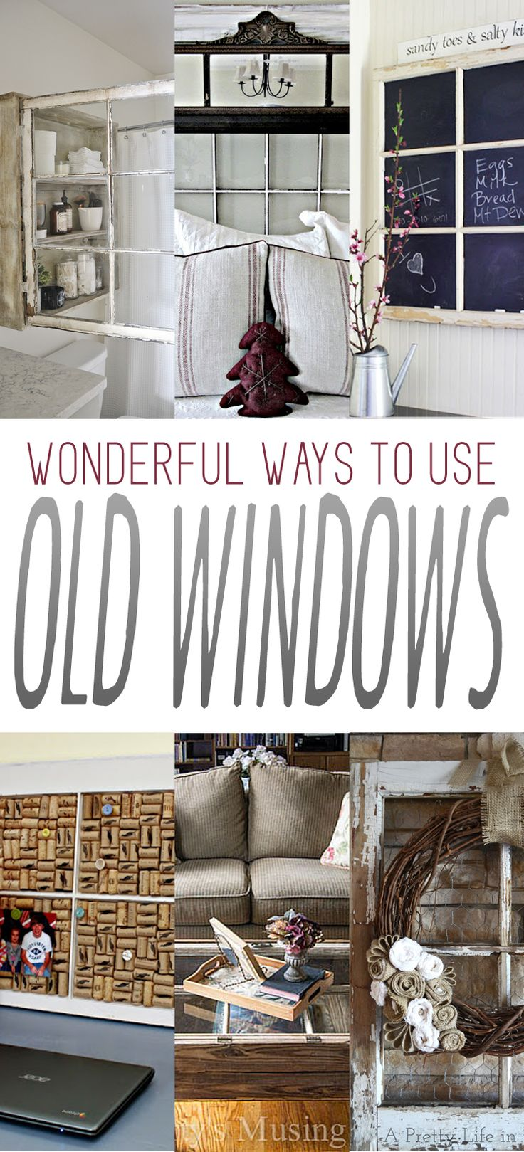 Wonderful Ways to Use Old Windows - The Cottage Market