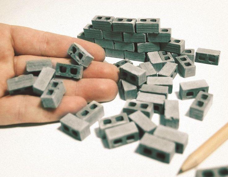 1:24 Scale Miniature Cinder Blocks - 50pk #modeltrains
