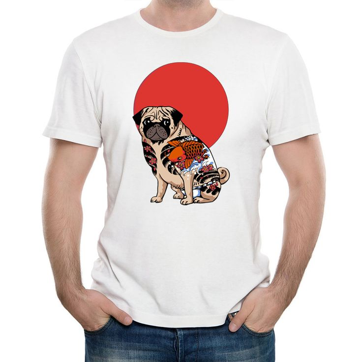 >> Click to Buy << DongKing Cool Yakuza Pug Printed T-Shirt Summer Fashion Unisex Tattoo Animal T Shirt Funny Ladies Short Sleeve Tee Tops #Affiliate