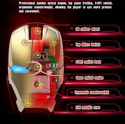 Iron man #wireless optical #gaming mouse for laptop & pc #computer  led 2.4 ghz n,  View more on the LINK: 	http://www.zeppy.io/product/gb/2/322211009508/