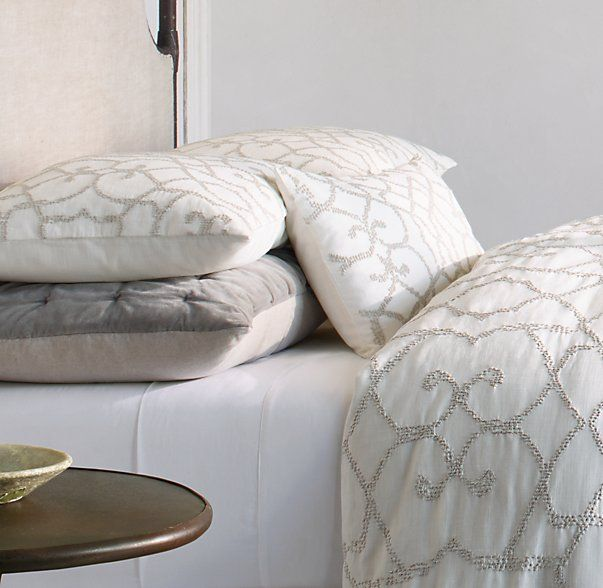 Restoration hardware textural seed stitch cotton bedding for Duvet covers restoration hardware