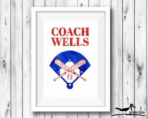 Personalized Baseball Name Art - Baseball Coaches Gift - Baseball Gifts for Boys Gifts for Men, Custom Baseball Art Baseball Coach Team Gift by BlueJayBay