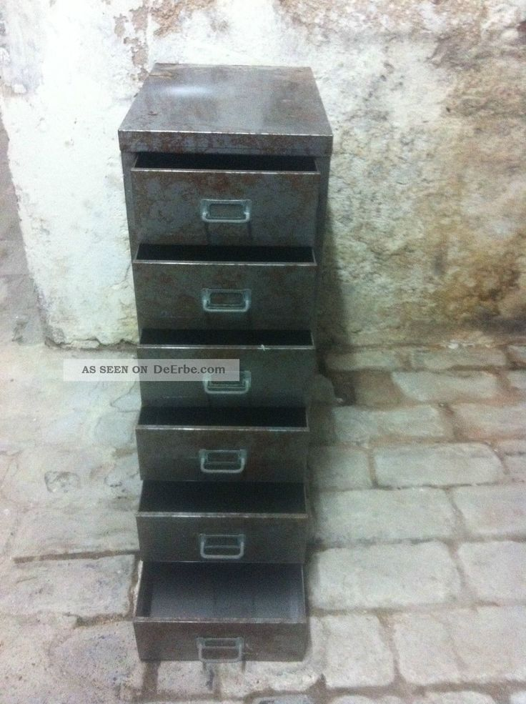 Werkzeugschrank, Industrie Loft, Schubladenschrank, Loft, Werkzeugschrank Metall Gefertigt nach 1945 Bild