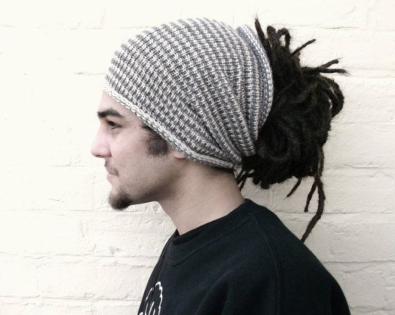 Striped dreadlock tube hat, hair wrap, dread band, custom made in any colour, size LONG.