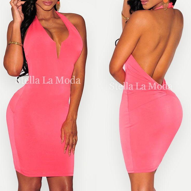 $29.99 Knotted Low Back Halter Dress