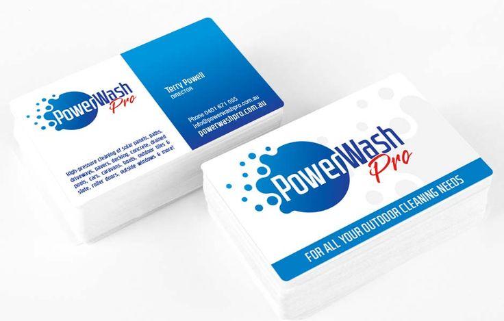Icon Graphic Design Adelaide - PowerWash Pro business card design.