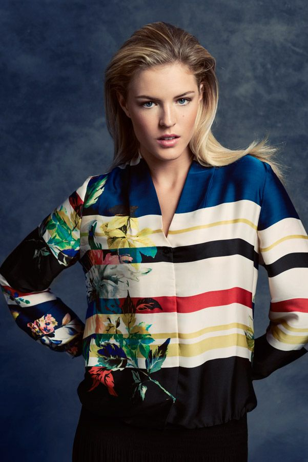 KRISS Fall Collection 2014. Graphic blouse with organic