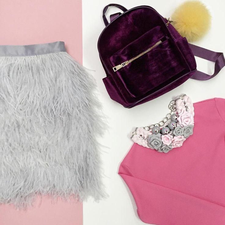 #glamour #fashionmood #tskirt #девочкитакиедевочки #barbie #barbieworld #pinkmood #fashiongirl #fashionpassion #юбкасперьями #юбкаперья #юбкаизперьев #рюкзак #колье #кольеизцветов #marinamak #кроптоп