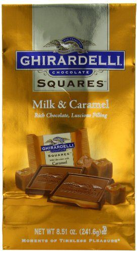 Ghirardelli Chocolate Squares, Milk Chocolate with Caramel Filling, 8.51 oz., 3 Count - http://bestchocolateshop.com/ghirardelli-chocolate-squares-milk-chocolate-with-caramel-filling-8-51-oz-3-count/