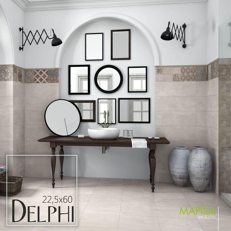 Delphi 22,5x60  La serie Delphi concibe combinaciones imposibles que crean conjuntos de ilustraciones que deslumbrarán y maravillarán por su armonía y exquisitez en el conjunto, recordando troqueles y formas de influencia árabe. http://www.mapisa.com/serie/delphi/