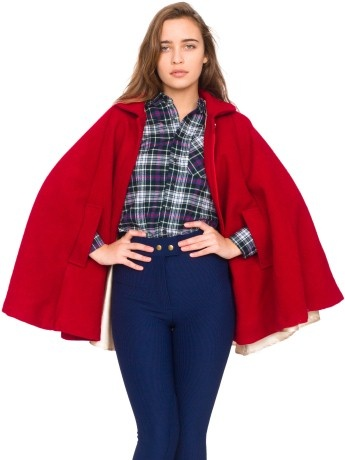 american apparel wool cape in valentine