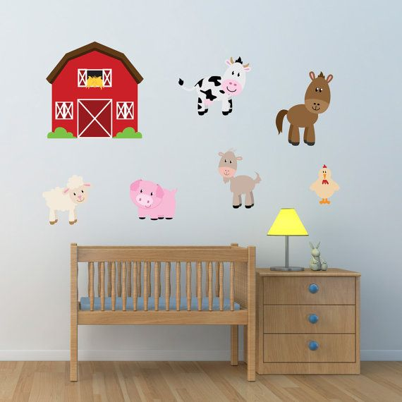Barn With Farm Animals Wall Stickers, Farmyard Wall Decals, Farm Wall Art, Animal  Wall Transfer   Full Colour Wall Stickers   Part 65