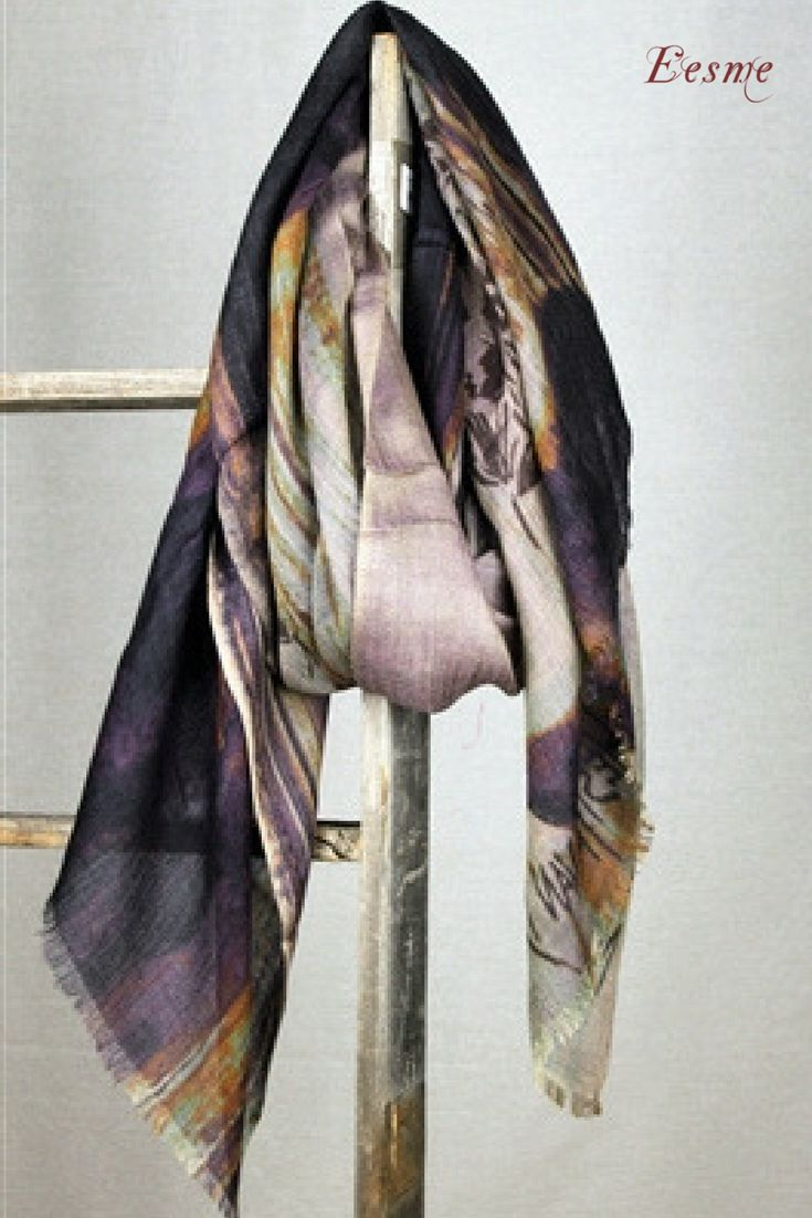 Cashmere Modal Scarf - Rings in Motion by VIDA VIDA UminW