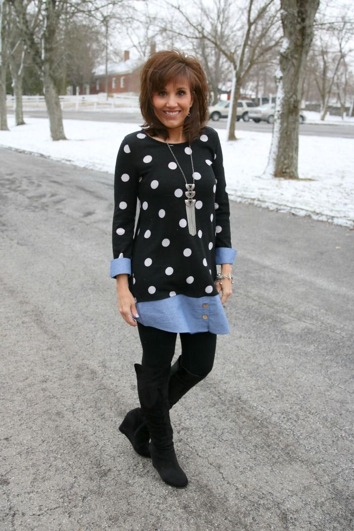 Tunic With Leggings-What I Wore - Grace & Beauty