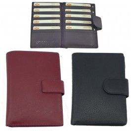 New Genuine Full Grain Leather Unisex Wallet Purse Card Holder