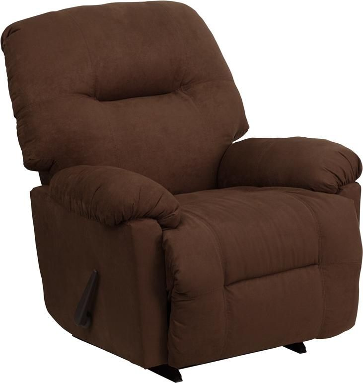 Microfiber Stylish and Comfortable Chaise Rocker Recliner Made in the USA Chocolate Brown Microfiber Upholstery High Quality Leggett and Platt mechanisms  sc 1 st  Pinterest & 111 best STYLISH RECLINERS images on Pinterest | Office chairs ... islam-shia.org