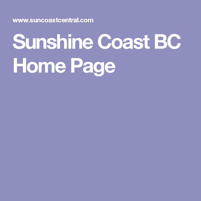 Sunshine Coast BC Home Page