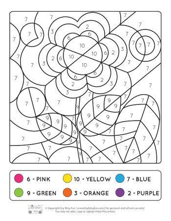 spring coloring by number worksheets preschool. Black Bedroom Furniture Sets. Home Design Ideas