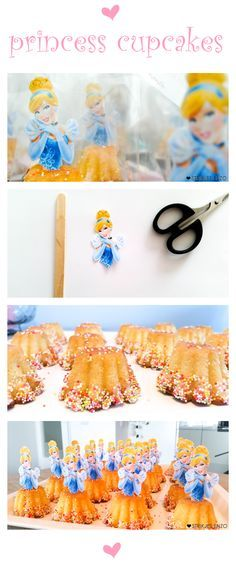 Een betoverende traktatie, leuk om samen te maken! Lees/Zie meer in de blog! * Prinsessen traktatie uitdelen meisje disney assepoester cupcake