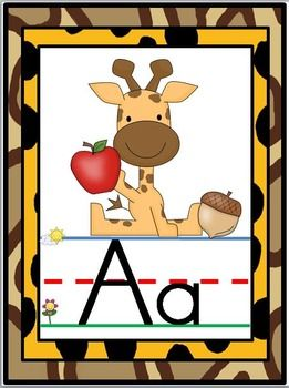 Decorate your jungle themed classroom and help students learn capital and lowercase letters and letter sounds with these fun alphabet posters.Includes 26 posters (letters A-Z)Also includes 5 bonus vowel posters with a red font that you can use if you'd like your vowels to stand out!! ;)Thanks!!Katie MenseLittle Warriors