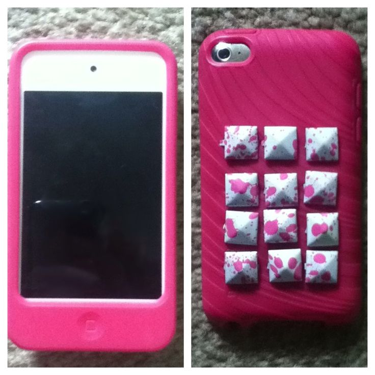 Cool Diy Ipod Cases Diy Pink Studded Ipod Case