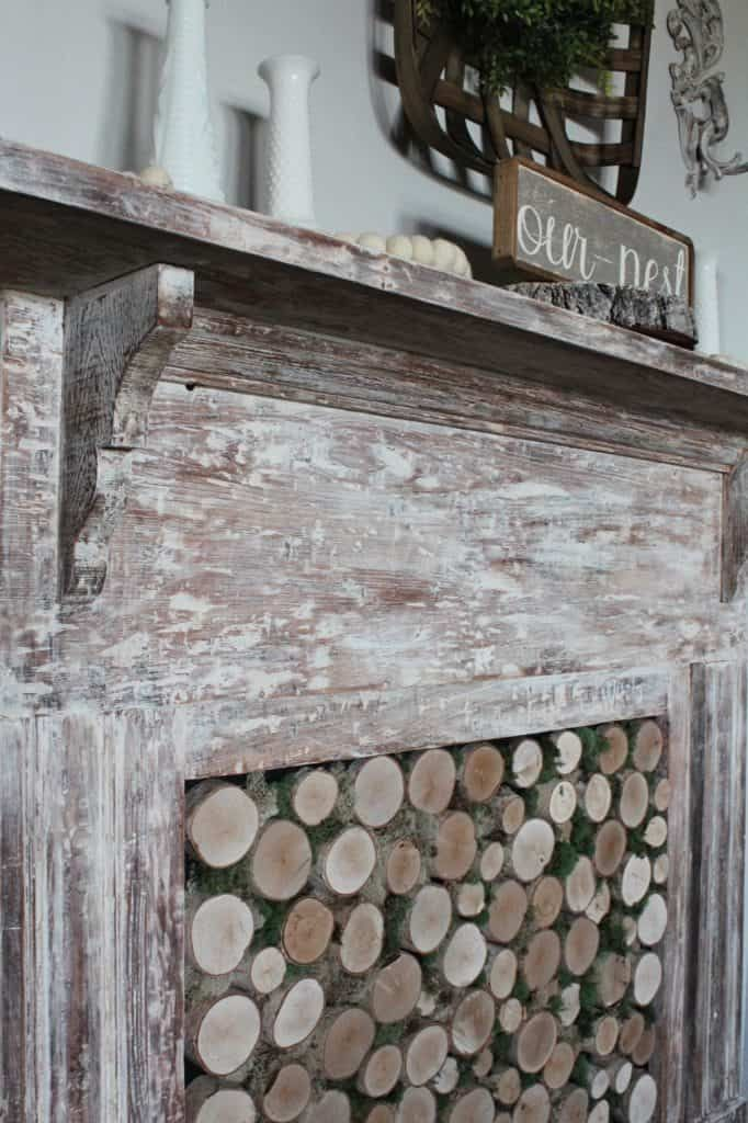 How To Create An Antique Fireplace Mantel With A Whitewash
