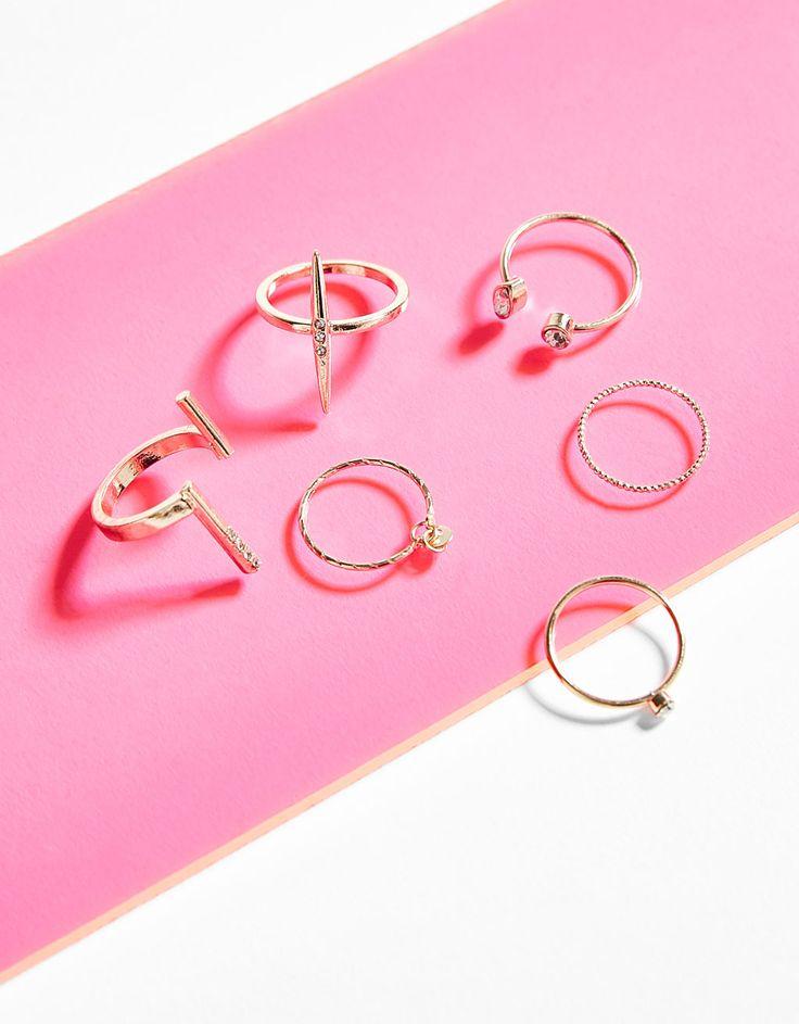 Bershka Colombia - Set de anillos