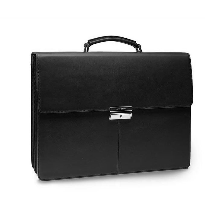 Executive Leather Briefcase in black