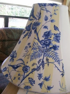 How to cover an old Lamp Shade