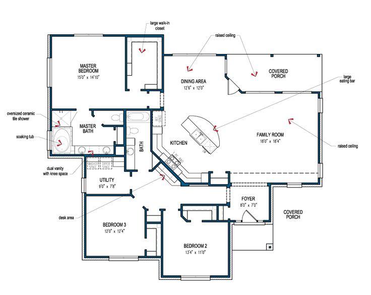 Floor plan of the frio by tilson homes tilsonhomes for Floor plan database